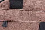 Сумка спортивная коричневого цвета унисекс (213к), фото 6