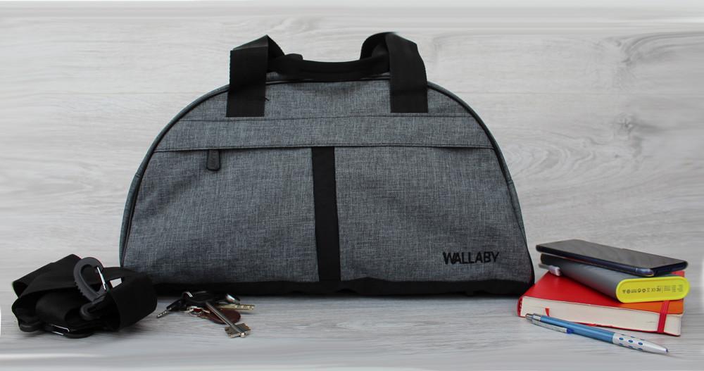 Универсальная спортивная сумка серого цвета (213ср)