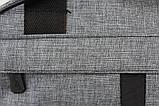 Универсальная спортивная сумка серого цвета (213ср), фото 3