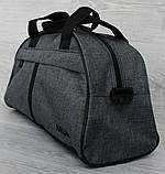Универсальная спортивная сумка серого цвета (213ср), фото 4
