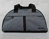 Универсальная спортивная сумка серого цвета (213ср), фото 7