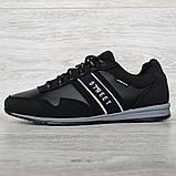 45 Розмір! Кроссовки мужские демисезонные стильные черные (Кд-460ч), фото 2