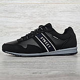 Кросівки чоловічі демісезонні стильні чорні (Кд-460ч), фото 2