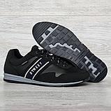 45 Розмір! Кроссовки мужские демисезонные стильные черные (Кд-460ч), фото 3