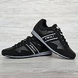 45 Розмір! Кроссовки мужские демисезонные стильные черные (Кд-460ч), фото 4