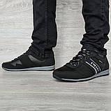 45 Розмір! Кроссовки мужские демисезонные стильные черные (Кд-460ч), фото 5