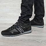 45 Розмір! Кроссовки мужские демисезонные стильные черные (Кд-460ч), фото 6