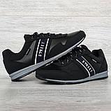 45 Розмір! Кроссовки мужские демисезонные стильные черные (Кд-460ч), фото 7