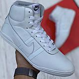Кросівки чоловічі білого кольору, Натуральна шкіра (15108б), фото 3