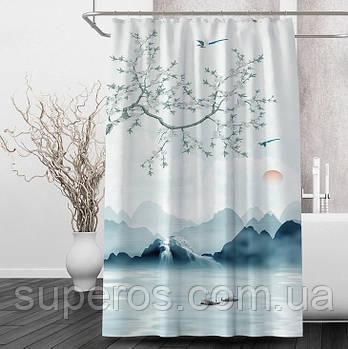 Тканинна шторка для душа 180х200 см Japan