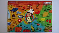 """Подложка для детского творчества,пластилина """"Английский язык.Еда"""" детская 390*280,«COOL FOR SCHOOL» .Коврик дл"""