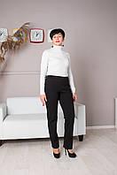 Теплые женские брюки без молнии, пояс на резинке. Размеры 46 - 60