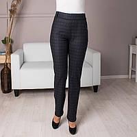 Трикотажные  женские брюки без молнии, пояс на резинке. Размеры 46 - 60