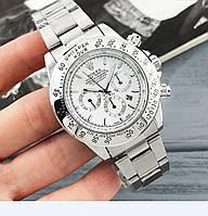 Мужские наручные часы Rolex Daytona серебро с белым