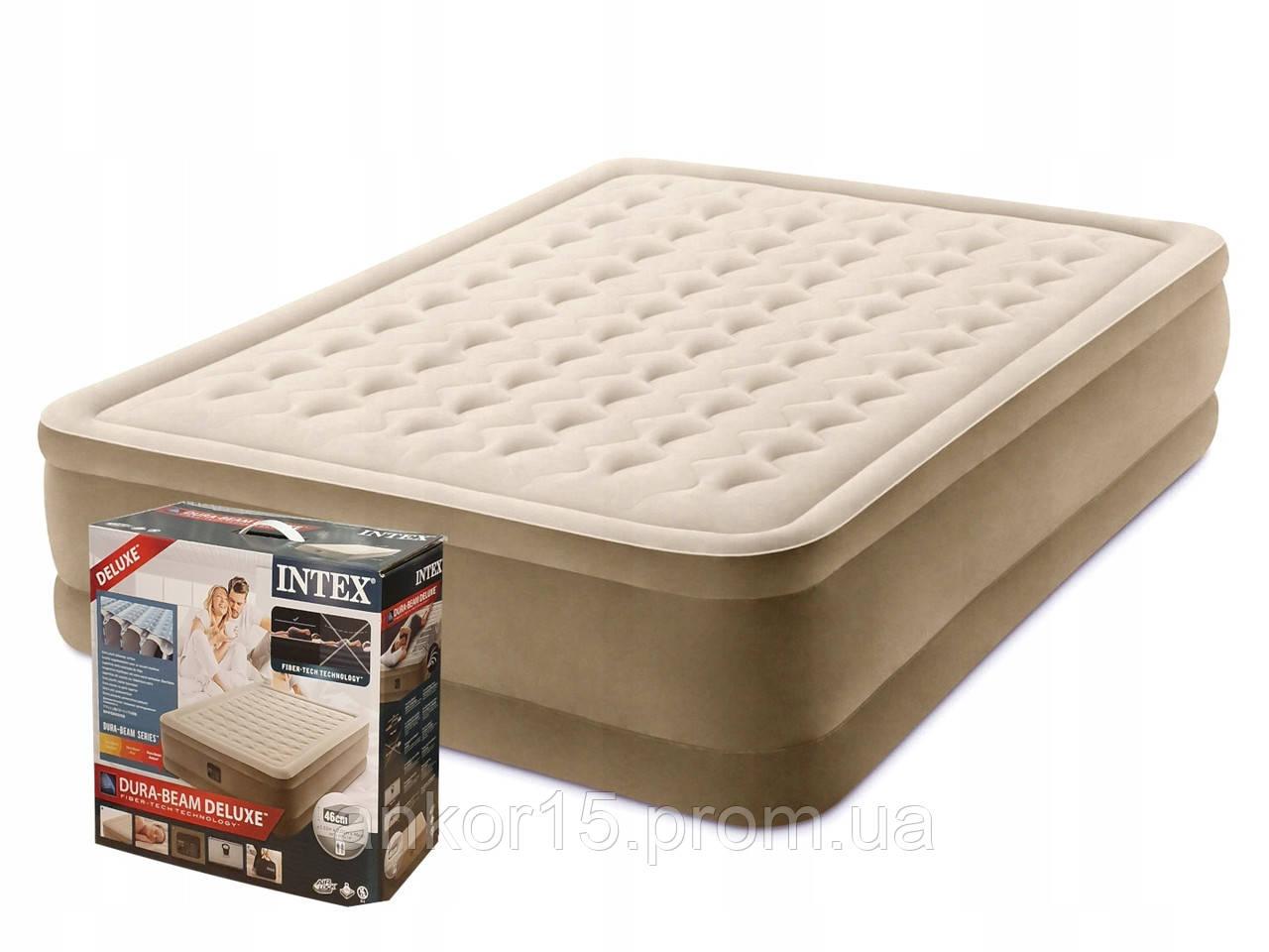 Надувная кровать Intex 64428, 152 х 203 х 46, со встроенным электрическим насосом. Двухспальная