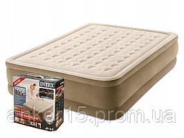 Надувне ліжко Intex 64428, 152 х 203 х 46, з вбудованим електричним насосом. Двоспальне