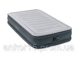Надувне ліжко Intex 67766, 99 х 191 х 33 , вбудований електронасос. Односпальне
