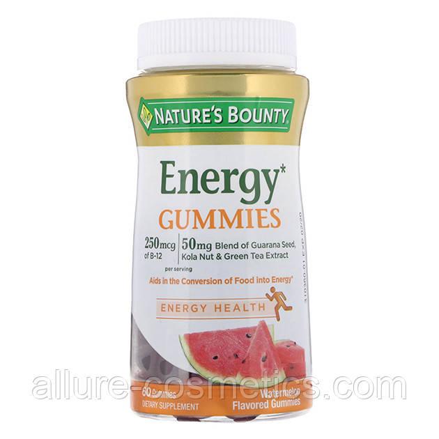 Енергетичні жувальні таблетки зі смаком кавуна nature's Bounty Energy gummies 60 шт.