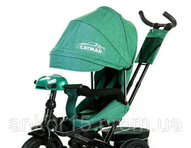 Велосипед трехколесный TILLY CAYMAN T-381/2  зеленый лён