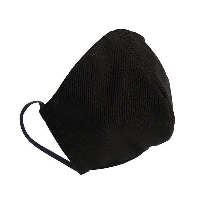 Многоразовая защитная маска для лица черная (размер L)