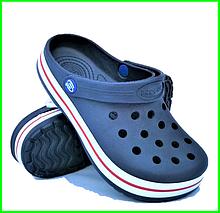 Женские Тапочки CROCS Синие Кроксы Шлёпки Сланцы (размеры: 36,37,38,39,40,41)