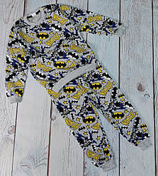 Детская теплая пижама Marvel пижамка для мальчика Бетмен 8-9 лет