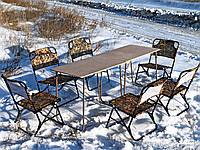 """Купить стол туристический со стульями, набор мебели пикник, для кемпинга, природы, отдыха """"Классический ФП2+6"""""""