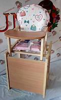 Стільчик для годування-трансформер дитячий дерев'яний Кішки.