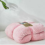 Плед-покривало велюр +овчина косичка 200*220, фото 2