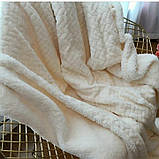 Плед-покривало велюр +овчина косичка 200*220, фото 7