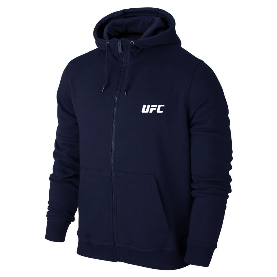 Толстовка UFC, ЮФС в стиле, синяя на молнии