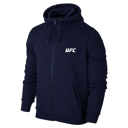 Толстовка UFC, ЮФС в стиле, синяя на молнии, фото 2