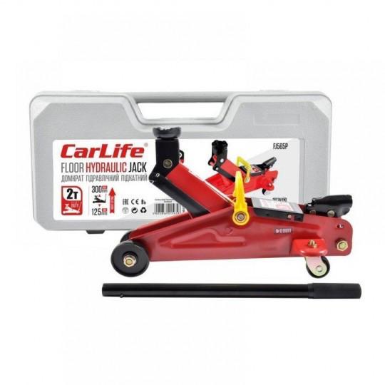 Домкрат підкатний CarLife 2т 125-305мм в кейсі FJ565P