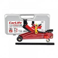 Домкрат подкатной CarLife 2т 125-305мм в кейсе FJ565P (Бесплатная Доставка)