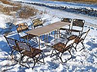 Стол туристический складной со стульями купить, для отдыха на природе, пикника, дачи и сада Классический ФП2+8