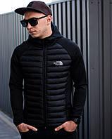 Куртка мужская The North Face демисезонная до + 5*С черная | Куртка весенняя осенняя Пуховик
