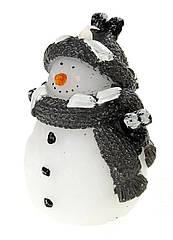 Декоративная LED свеча Melinera Снеговик белый-серый (H1-570339)