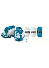 Набор Crelando для вязания пинеток белый-синий (H1-770260)