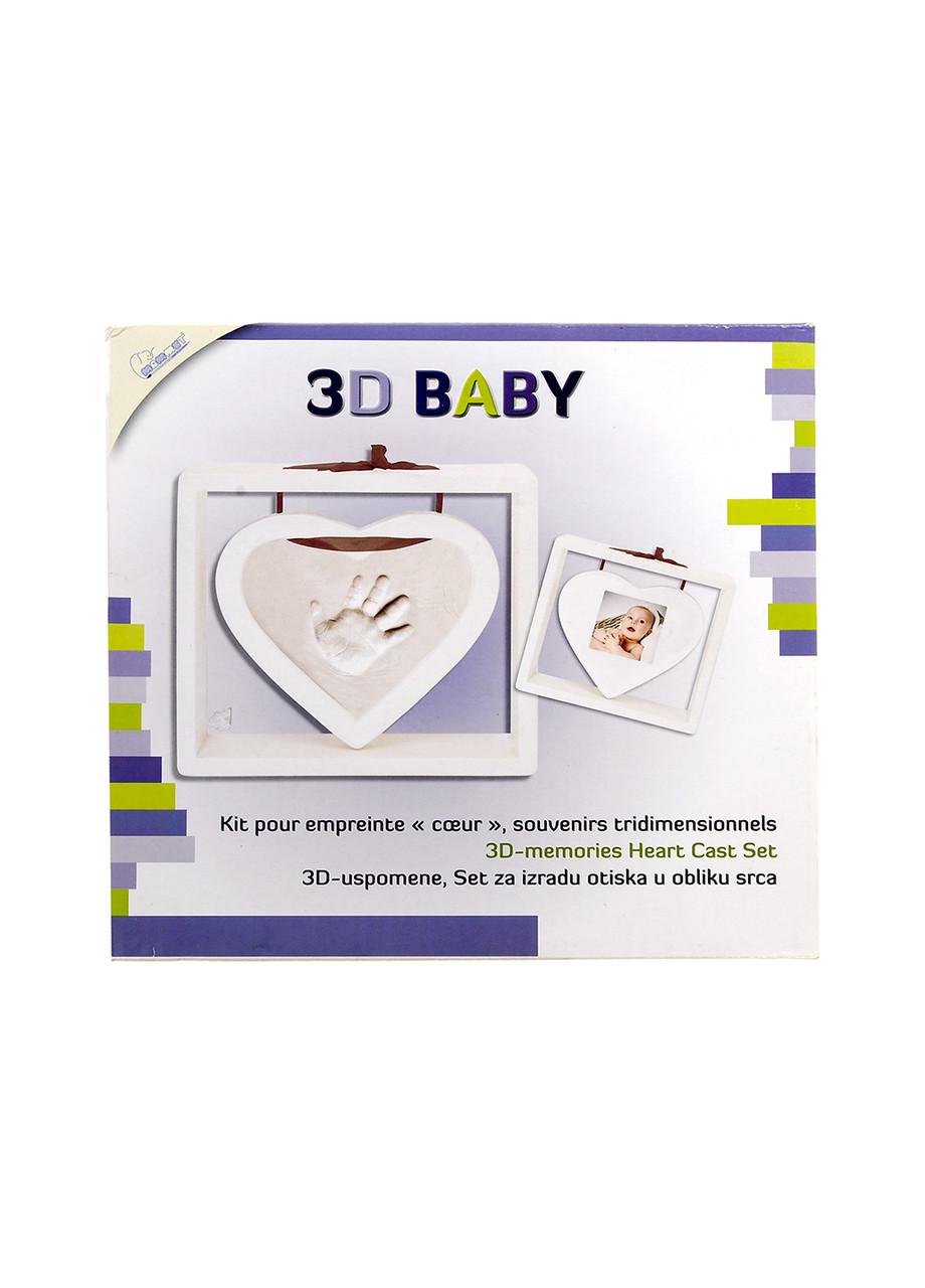 3D Слепок Silver Crest детской руки и фоторамка белый (H1-770231)