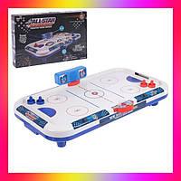 Детская настольная игра Хоккей Аэрохоккей .Настольный аэрохоккей , работает от сети 220 В