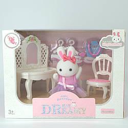 """Флоксовий зайчик з меблями для гардеробної кімнати з серії """"Щаслива сім'я"""""""