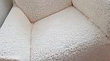 Чехол Универсальный На Диван И 2 Кресла Меховый Овечка VENERA Бело-Кремовый НОВИНКА, фото 7
