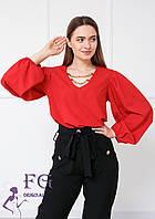Легкая женская блузка с широкими рукавами  017В/01, фото 1
