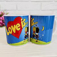 Романтична Чашка Love is,,,, (Лав із...), фото 1