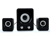 Колонки мощные с сабвуфером для компьютера mini 2.1 на usb, фото 1