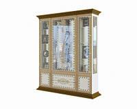 Вітрина Світ Меблів Белладжіо 188,5×227×45,5 білий/білий лак