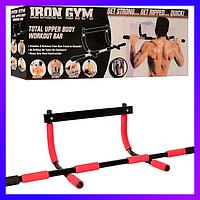 Тренажер-турник Iron Gym Айрон Джим Турник и Брусья в Дверной проём для Спорта и Упражнений Дома
