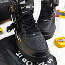 Женские кроссовки Nike Air Force 1'07Lv8 Ultra Hight Black, фото 5