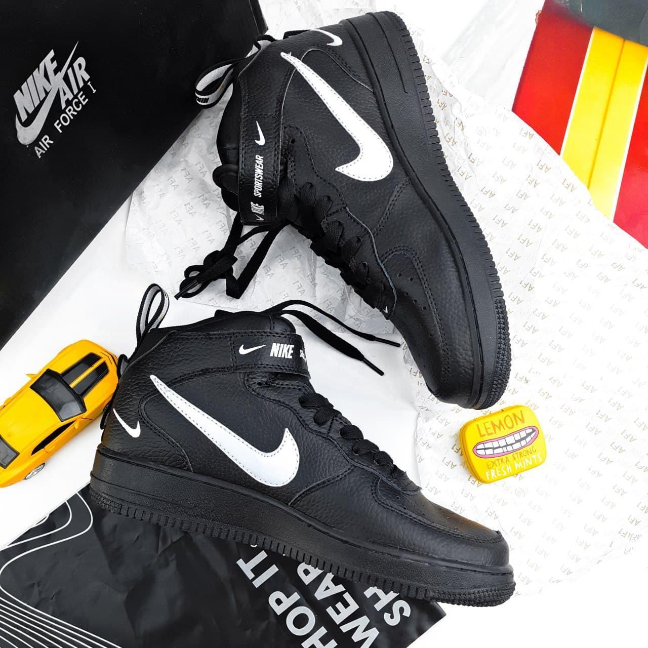 Женские кроссовки Nike Air Force 1'07Lv8 Ultra Hight Black