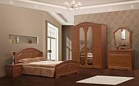 Ліжко двоспальне Світ Меблів Луїза (+каркас) 160×200 дуб рустикаль/дуб золотий, фото 1